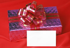 Gift and Christmas card Stock Photography