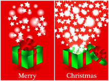 Before and after gift Christmas card Royalty Free Stock Photography
