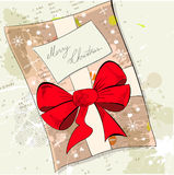 Gift christmas card Stock Photo