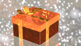 Gift with Christmas decorations stock footage