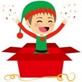 Gift Christmas Elf Royalty Free Stock Photos