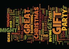 Gift For Christmas Party Word Cloud Concept Stock Images