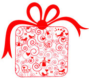 Gift for Christmas or Valentine's day Stock Photography