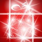 Gift christmas winter shiny abstract box greeting Royalty Free Stock Photo