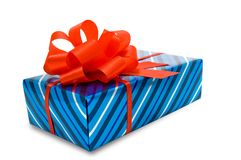 Gift. clipping path. Royalty Free Stock Photo