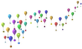 Gift Collection, Balloon Flight Royalty Free Stock Images