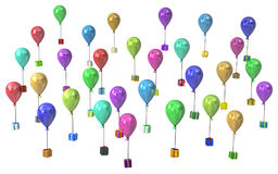 Gift Collection, Balloon Presents Stock Images