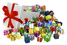 Gift Collection, Big Box Royalty Free Stock Images