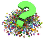 Gift Collection, Big Question Royalty Free Stock Photography