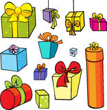 Gift collection isolated on white Stock Photo