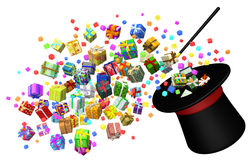 Gift Collection, Magic Trick Royalty Free Stock Photo