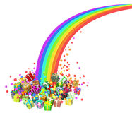 Gift Collection, Rainbow End Royalty Free Stock Photos