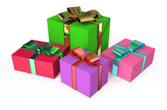Gift colored boxes Royalty Free Stock Image