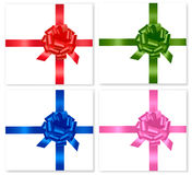 Gift colored ribbons and bows. Vector Stock Images