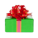 Gift in colorful package with bows Stock Images
