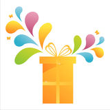 Gift with colorful splash Stock Photo
