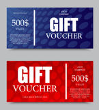 Gift company voucher template Stock Images