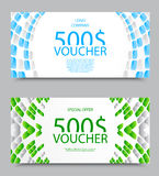 Gift company voucher template Royalty Free Stock Image