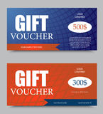 Gift company voucher template Stock Image
