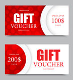 Gift company voucher template Royalty Free Stock Images