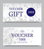 Gift company voucher template Stock Photography