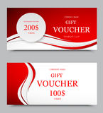 Gift company voucher template Royalty Free Stock Photos