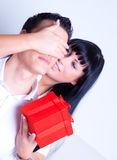 Gift couple Stock Photo