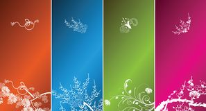 Gift coupon design background Stock Image