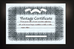 Gift coupon design in retro classic style for document designs Royalty Free Stock Images