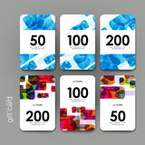 Gift coupon, discount card template with  abstract background Royalty Free Stock Image