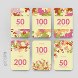 Gift coupon, discount card template with  floral Royalty Free Stock Image