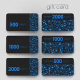 Gift coupon, discount card template with  floral. Ornament background. Creative layout design Stock Photo