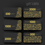 Gift coupon, discount card template with  floral ornament background Royalty Free Stock Photography