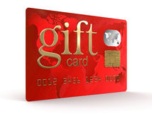 Gift Credit Card (clipping path included) Stock Photography