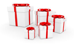 Gift cube. On the white background royalty free illustration