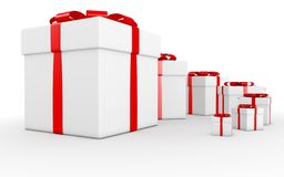 Gift cube. On the white background stock illustration