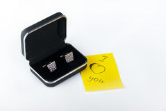 Gift Cufflinks Royalty Free Stock Photography