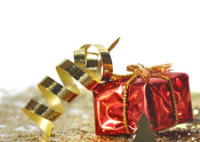 Gift and curling ribbon Royalty Free Stock Photos