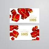 Gift 3D background. Festive box gift card. Gift 3D background. Festive box and bow vector illustration Stock Images