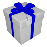 Gift - 3D render Stock Photos