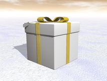 Gift - 3D render Royalty Free Stock Images