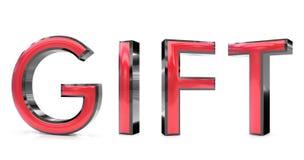 Gift 3d woord Stock Afbeelding