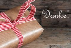 Gift with Danke Royalty Free Stock Images