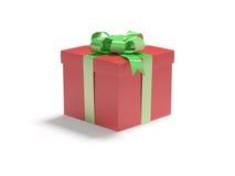 Gift in de rode doos Stock Afbeeldingen