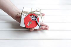Gift declaration of love Stock Image