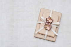 Gift. Decorated with paper flowers Stock Image