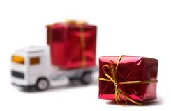 Gift delivering Stock Photos