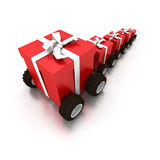 Gift delivery Stock Photo
