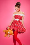 Gift disappointement. Pin-Up Retro Style Woman Stock Images
