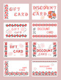 Gift and discount cards Royalty Free Stock Photography